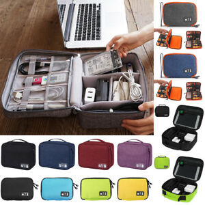 Portable Electronic Accessories Travel Cable USB Drive Organizer Bag Insert Case $8.48
