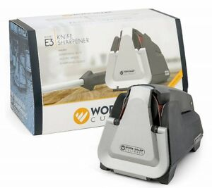 Work Sharp Culinary E3 Electric Kitchen Knife Sharpener + Ceramic Honing Rod
