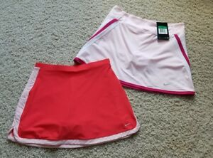 Lot of 2 Girl's Nike Dri Fit Running Tennis Athletic SkirtSkortShorts Size XL