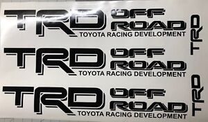 Trd Off Road Stikers Black two right and left AND small gifts TRD $33.99