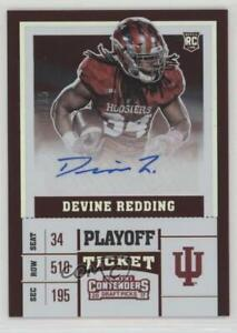 2017 Panini Contenders Draft Picks Playoff Ticket #255 Devine Redding Auto Card