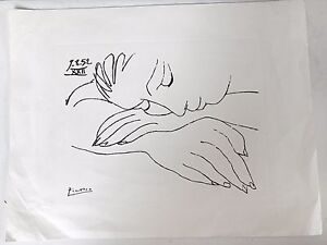 ORIGINAL PEN AND INK DRAWING Hand SIGNED PICASSO Authentic $16250.00