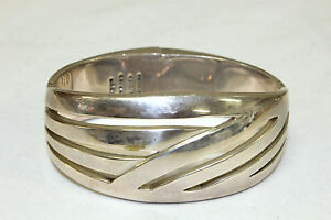 Vintage Mexico Sterling Silver 925 Men's Bracelet Jewelry 112.9 Grams.