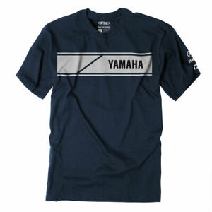 Factory Effex Licensed Yamaha Speed Block T-Shirt Navy Mens All Sizes