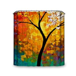 Popeven® Sunset And Tree Scenery Waterproof And Mold Proof Shower Curtain