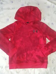 UNDER ARMOUR Kids Hoodie Youth Camo Red Front Pockets SIZE YOUTH SMALL 7-8