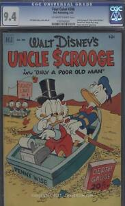 Dell Comics Four Color Uncle Scrooge Donald Duck CGC 9.4 CGC 9.4
