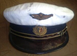 Visor hat with embroidery badge for Aviation Air Forces Officer Army of Romania