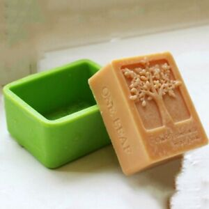 Mini Life Tree Rectangle Silicone Soap Mold Craft DIY Handmade Cake Candy Mould