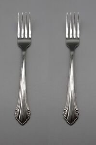 SET OF TWO - Oneida Stainless BITTERSWEET / REPOSE Dinner Forks * USA