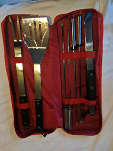 CRATE & BARREL 7pc. BBQ Tool Set Grill Grilling Tools Accessory Stainless Steel