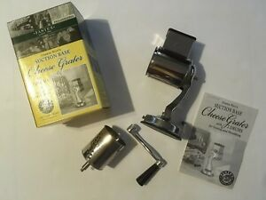 Fante's Cousin Nico's Suction Base Cheese Grater w/ 2 Drums Italian Market Orig.