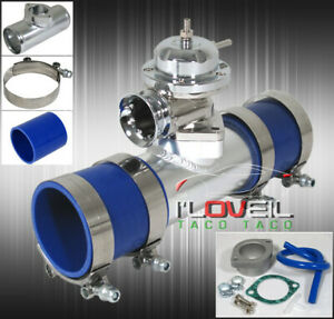 Bolt On Blow Off Valve Kit - Polished Type-Rs BOV + Aluminum Adapter Pipe + Coup