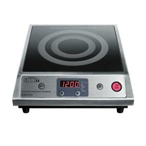 13 In. Smooth Ceramic Glass Induction Cooktop 1 Element Single Burner Black New