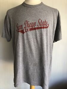 SAN DIEGO STATE AZTECS Dad Vintage 90s Russell Athletic Grey T Shirt Large $24.99