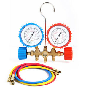1 Set R134a R12 R22 R502 HVAC AC Manifold Gauge 2.75FT Refrigeration Charging