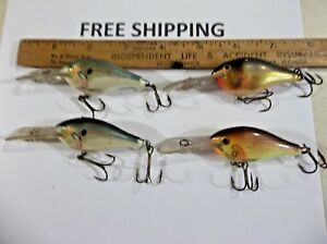 Rapala Risto Rap #5 crankbait RR5 Lot of 4 Discontinued FISHING LURES USED LOT
