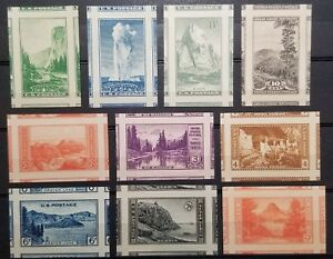 756 765 1935 NATIONAL PARKS IMPERFS SUPERB COMPLETE MNH SET JUMBO MARGINS