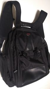Tumi Nylon Leather Padded Laptop Backpack Bag Organizer 520C Mens