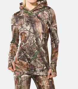 UNDER ARMOUR Women's EVO Cold Gear Camouflage Hunting Hoodie NWT Size: LARGE