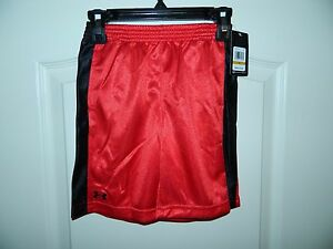 Boy's Under Armour Red & Black Athletic Shorts Size 3T-NWT