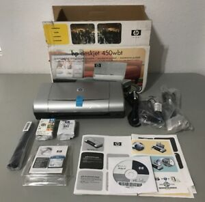 New HP Deskjet 450wbt Mobile Printer C8145a Bluetooth-Opened Box-Free Shipping