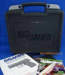 Sig Sauer Universal Factory Hard Plastic EMPTY Pistol Case Box with Manual