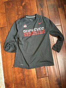 Nike Boys Large Dry Fit Long Sleeve Shirt Ohio State M