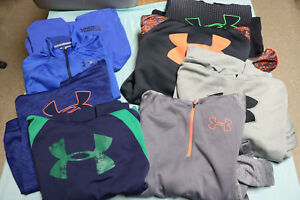 Lot of 8 Boys Under Armour 7 Pullover Hoodies  & 1 Jacket Youth Sz XL