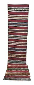 Hand Woven Antique Turkish Kilim Tribal Pattern Rug -- 3'10