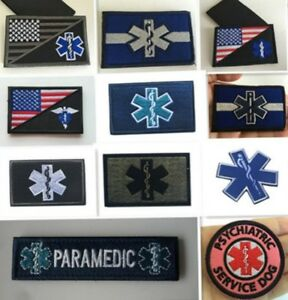MEDIC NURSE Patches ARMY MORALE TACTICAL EMBROIDERY HOOK  PATCH jacket patches