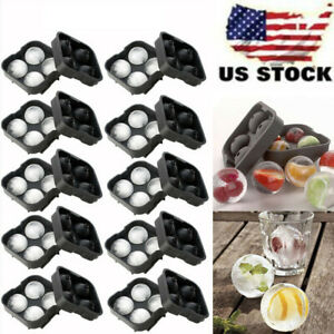 10 Lots  ICE Balls Maker Round Sphere Tray Mold Cube Whiskey Cocktails Silicone