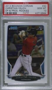2013 Bowman Draft Picks & Prospects Chrome #40 Christian Yelich PSA 10 GEM MT RC