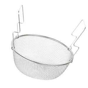 Stainless Steel Mesh Strainer Basket Food Presentation Cooking Tools 18cm