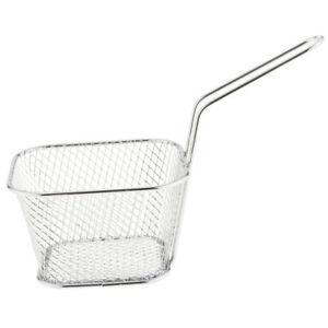 Household Mesh Spider Food Rectangle Strainer Fry Basket Mini Kitchen Tool