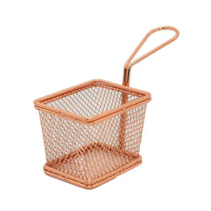 Stainless Steel Mesh Fried Basket Strainer Serving Food Presentation Cooking
