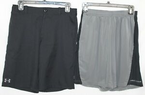UNDER ARMOUR Boy's Golf Casual Dress Shorts Black Youth Large & Athletic EUC!