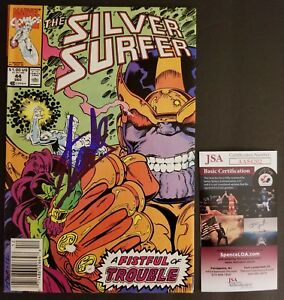 STAN LEE Authentic Hand-Signed SILVER SURFER #44 1st Infinity Gauntlet (JSA COA)