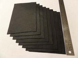 Upholstery Leather Scrap 6 x 9 inches Black 1 Piece $2.99