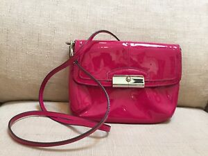 NWT! Coach Patent Leather Kristin Crossbody Bag Handbag Purse 47399 Pink