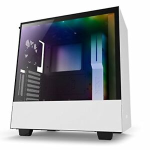 Nzxt CA-H500W-W1 H500i No Power Supply Atx Mid Tower W Lighting And Fan Control