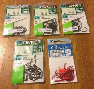 Owner  Gamakatsu Bait Hooks 5 Packages Size 10 20 30 40 All Purpose Fishing