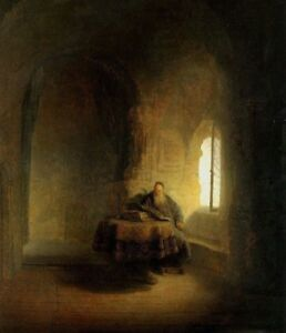 Philosopher Reading by Rembrandt Fine Art Canvas Print Giclee HQ Small 8x10 $12.00