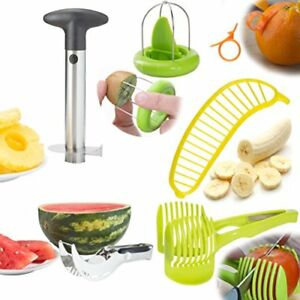 Fruit Slicer Peeler Set Of 6 Stainless Steel Pineapple Corer Watermelon Plastic