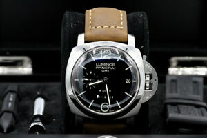 Panerai PAM 233 Luminor GMT 8Days Stainless Steel 44MM Box Papers 2018 Serviced