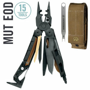 ~NEW~ Leatherman MUT EOD Tactical Multi-Tool Black Oxide w Brown Molle Sheath