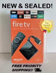 NEW Amazon - Fire TV with 4K Ultra HD and Alexa Voice Remote Pendant - Black