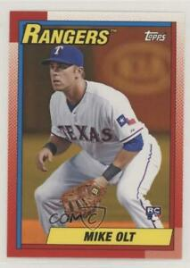 2013 Topps Archives Hobby Shop Orange Day Glo Mike Olt #158 Rookie $1.69