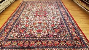 7 x 11 Magnificent Fine Durable Persian Bijar Hand Knotted Wool Rug Made In Iran