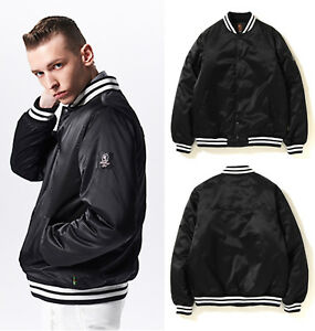6c1b074ea 2019 SS A BATHING APE Men's Mr.Bathing Ape SATIN VARSITY JACKET Black Japan  New